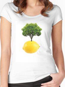 Lemon Tree  Women's Fitted Scoop T-Shirt