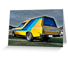Valiant Drifter Panel Van Greeting Card