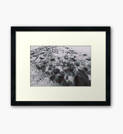 rocks and bricks Framed Print