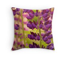 Lavender Lupine Throw Pillow
