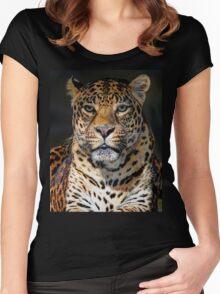 Portrait of Leopard Women's Fitted Scoop T-Shirt
