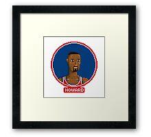 Juwan Howard - Washington Bullets  Framed Print
