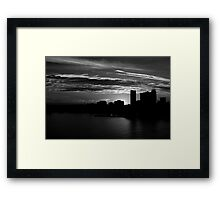 and yet another day closes Framed Print