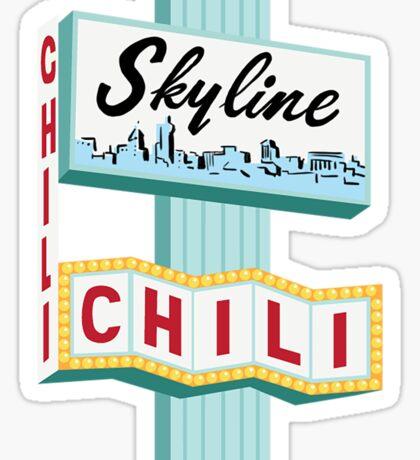 Cincinnati Skyline Chili Ludlow Ave Sign Sticker