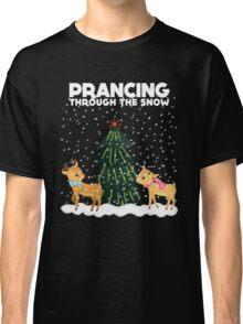 Cute Funny Prancing Through the Snow Classic T-Shirt