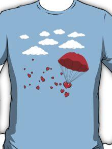 Flying Hearts (Heart Tree - Flying Hearts Couples Design) T-Shirt