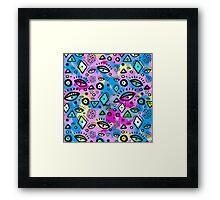 Tribal Pattern Hippy Shake Framed Print