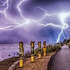 Geelong lightning by Alan  Wright