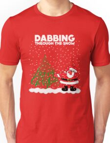 Cute Funny Dabbing Through the Snow Unisex T-Shirt