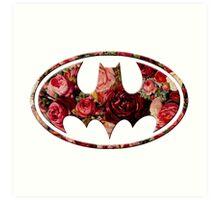 Floral Batman Art Print