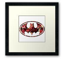Floral Batman Framed Print