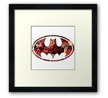 Floral Batman Framed Print