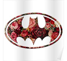 Floral Batman Poster