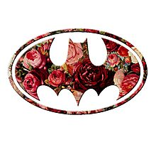 Floral Batman Photographic Print