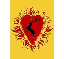 Stannis Baratheon Sigil - Firey Heart Photographic Print