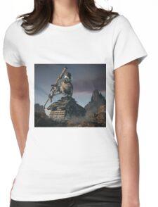 War Tank Robot Womens Fitted T-Shirt