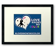 Love Knows No Color. Framed Print