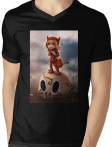 Wickedly Drawn Mens V-Neck T-Shirt