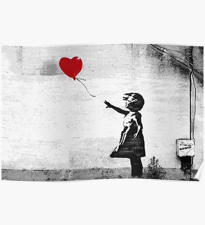 Banksy - Girl with a balloon Poster