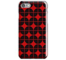 Optical Illusion Pattern Neon Red on Black iPhone Case/Skin