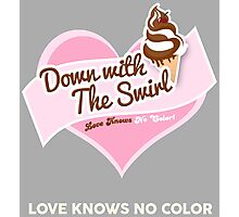 Down With The Swirl. Photographic Print