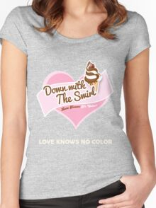 Down With The Swirl. Women's Fitted Scoop T-Shirt