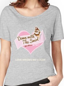 Down With The Swirl. Women's Relaxed Fit T-Shirt