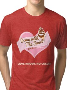 Down With The Swirl. Tri-blend T-Shirt