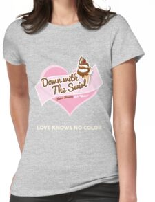 Down With The Swirl. Womens Fitted T-Shirt