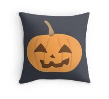 Lonely Halloween Mr. Pumpkin Up for Your Adoption Throw Pillow