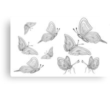 black white nature butterfly  Canvas Print