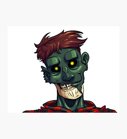 Face of The Undead Photographic Print