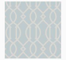 Trellis,grey,pale blue,modern,trendy,contemporary,pattern Baby Tee