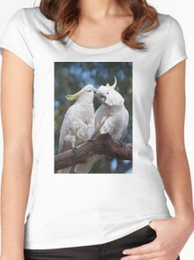 "Sulphur-crested Cockatoos ~ ""I love you too"" Women's Fitted Scoop T-Shirt"