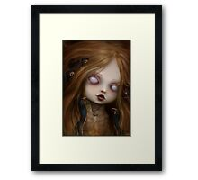 The face of all your fears Framed Print