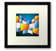 Abstract Windows Digital Vector art Framed Print