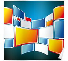 Abstract Windows Digital Vector art Poster
