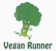 Vegan Runner - Running Broccoli One Piece - Short Sleeve