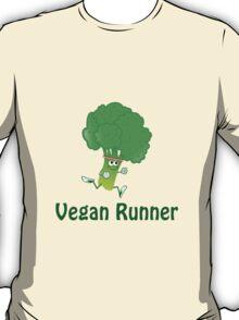 Vegan Runner - Running Broccoli T-Shirt