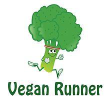 Vegan Runner - Running Broccoli by Eggtooth