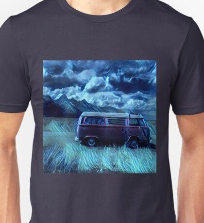 Angry Sky VW Westfalia in Mountains Unisex T-Shirt