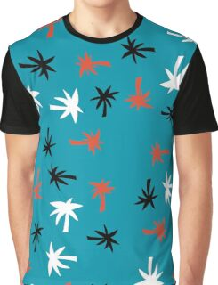 Palms On Teal Graphic T-Shirt