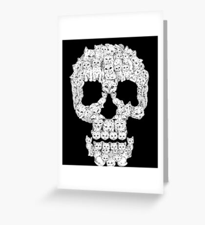 Skulls-Are For-Pussies Greeting Card