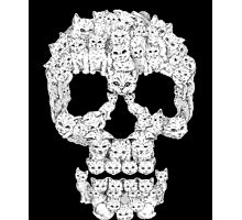 Skulls-Are For-Pussies Photographic Print