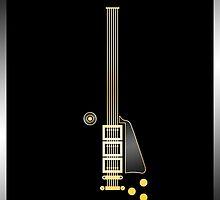 """Guitar Art - Les Paul """"Black Beauty"""" by PPWGD"""