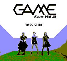 Perfume Game NES Start Screen by TheCzarOfAll