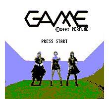 Perfume Game NES Start Screen Photographic Print