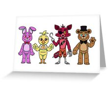 Five Nights at Freddy's Day Version  Greeting Card