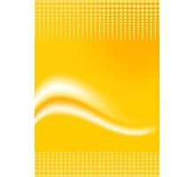 Yellow Wave Abstract Digital Vector  Photographic Print