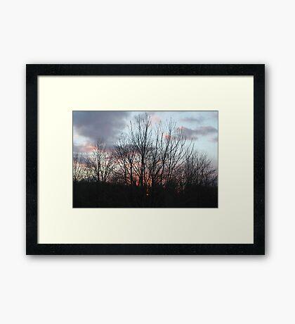 Colorful Sunset Framed Print